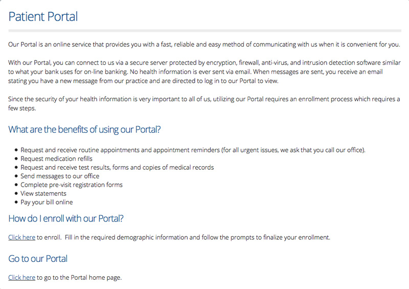 Patient Portal Intros