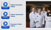 medical website video pages