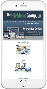 responsive smart phone medical website